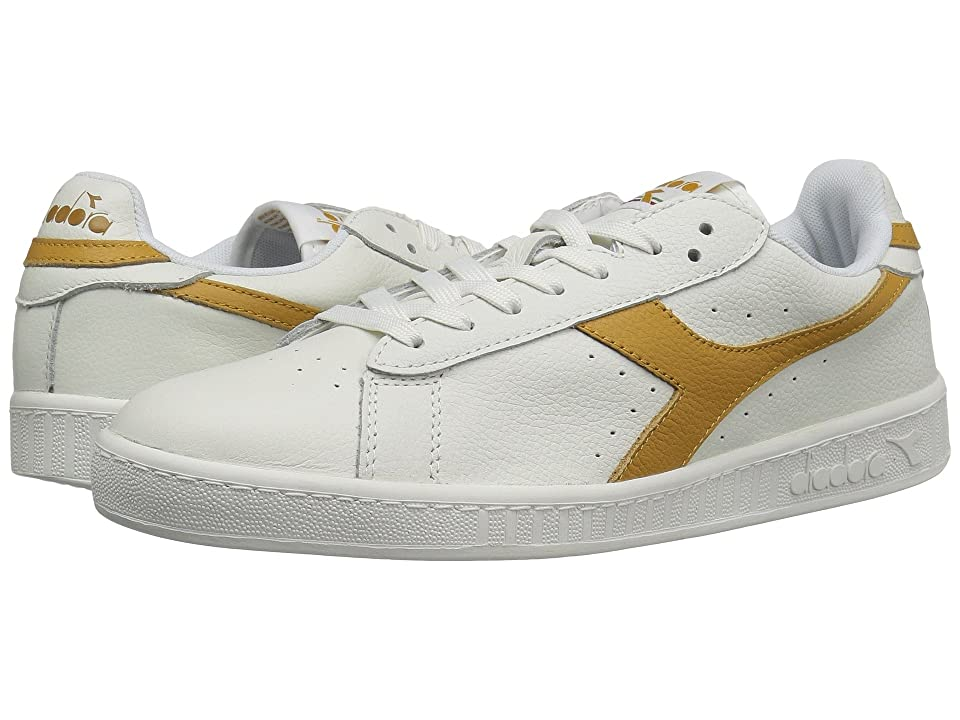 Diadora Game L Low Waxed (White/Amber Gold) Athletic Shoes