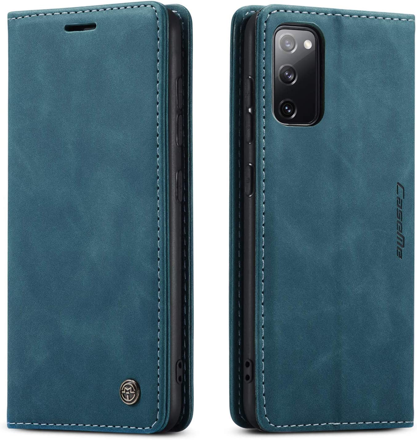 Samsung Galaxy S20 FE 5G Case,Samsung S20 FE Wallet Case with Card Holder Kickstand Magnetic,Leather Flip Case for Samsung Galaxy S20 FE 5G 6.5 Inch (Blue)