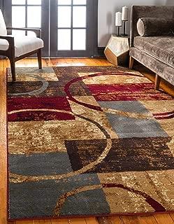 Unique Loom Barista Collection Modern Circles Rustic Warm Multi Area Rug (8' 0 x 10' 0)