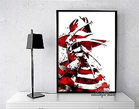 Horror Movie Poster Freddy Krueger Print, Great Gift for Under $25 for Horror Movie Fans, Movie art, Bedroom Wall Art, horror movie art print, 11 X 14 inches - Unframed
