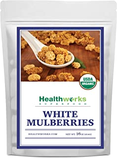 Healthworks White Mulberries (16 Ounces / 1 Pound) | Certified Organic, All-Natural & Sun-Dried | Keto, Vegan & Non-GMO | ...
