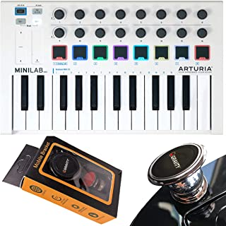 Arturia MiniLab MkII 25 Slim-Key Controller 25-Note USB Mini Keyboard Controller with 16 Encoders with Gravity Magnet Phon...