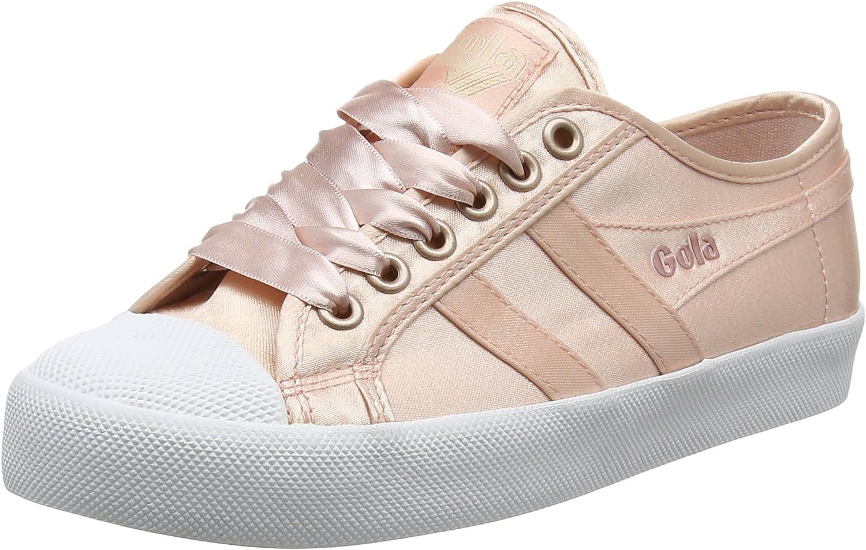 Gola Women's Coaster Satin bluesh Pink White Trainers