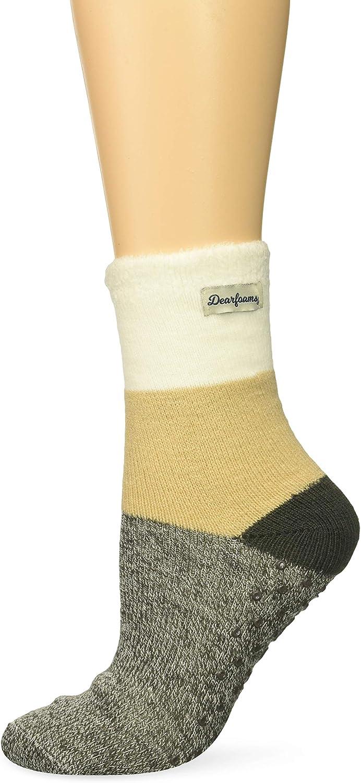 Dearfoams Women's Multi Colored Cabin Sock Slipper