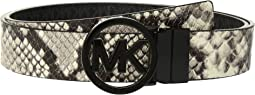 MICHAEL Michael Kors - Fulton Smooth to Logo Reversible Belt