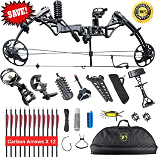 XGeek Compound Bow Package,Archery for Adults,with Hunting Accessories
