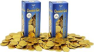 Hanukkah Chocolate Gelt - Nut Free - Belgian Milk Chocolate Coins - 2LB - Over 200 Coins - OU D Kosher Chanukah Gelt (2-Pack)