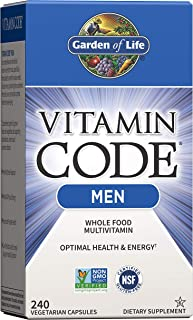 Garden of Life Vitamin Code Whole Food Multivitamin for Men - 240 Capsules, Vitamins for Men, Fruit and Veggie Blend and P...