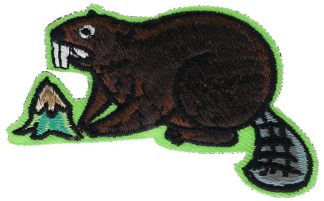 Beaver Animal Badge 2 inch Patch AVAS4689