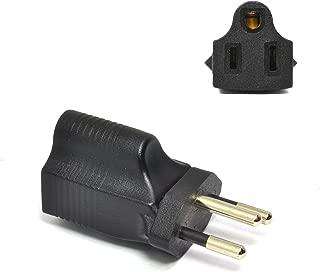 Ceptics Brazil Nbr14136 Travel Power Plug Adapter Accepts NEMA 5-15R - ETL Certified - Industrial Grade (IG-11C)