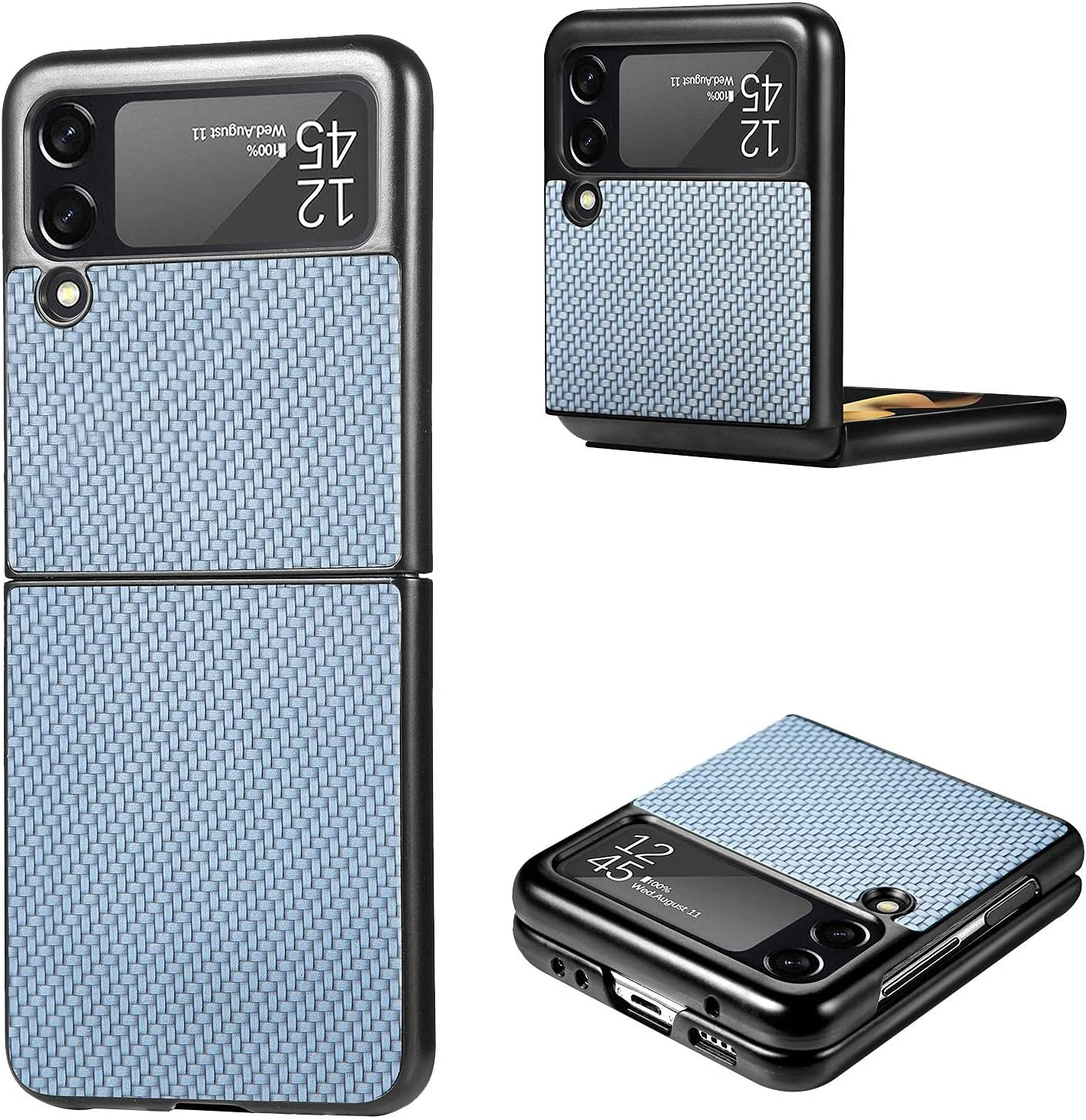 Flip Case for Samsung Galaxy Z Flip 3 5G Smartphone, Ultra Thin Folable PC Mobile Phone Protective Case Compatible with Samsung Galaxy Z Flip3 5G