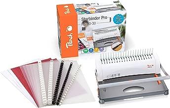 Peach PB200-30 - Encuadernadora de plástico (para tamaños A4, incluye un set de inicio de 15 piezas, 350 hojas)