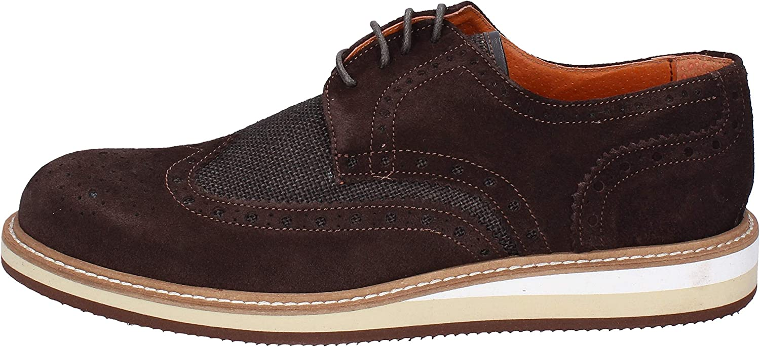 SESTO SENSO Oxfords-shoes Mens Suede Brown