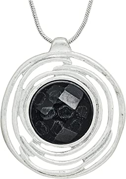 The Sak - Stone Halo Pendant 28