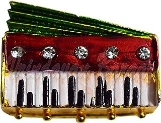 VRINDAVANBAZAAR.COM Sitar para deidades del hogar, Armonio, multicolor, Small
