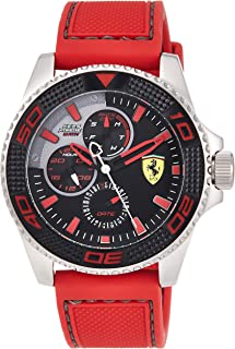 Ferrari Kers Xtreme Men's Black Dial Silicone Band Watch - 830469