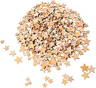 200 Pièces Étoiles en Bois Embellissements Étoile en Bois Mini Embellissements Étoiles pour Mariage Artisanat Faire du Bri...