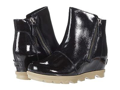 SOREL Kids Joan Of Arctic Wedge II Zip (Little Kid/Big Kid) (Black) Girls Shoes