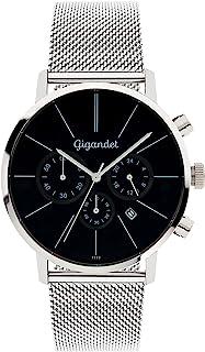 Gigandet G32-006 - Reloj para Hombres, Correa de Acero Inoxidable Color Plateado