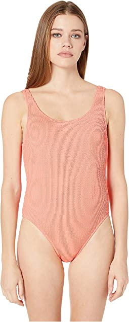 77c58510d095c Jantzen solids braided surplice one piece fire coral | Shipped Free ...
