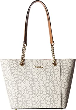 Calvin Klein Monogram East/West Tote