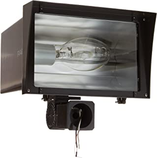 ED28 Type 29700 Lumens 320W Power RAB Lighting FZH320PSQ Floodzilla Pulse Start Metal Halide Floodlight with Trunnion Mounting Bracket Bronze Color Aluminum CWA-HPF QT Ballast 277V