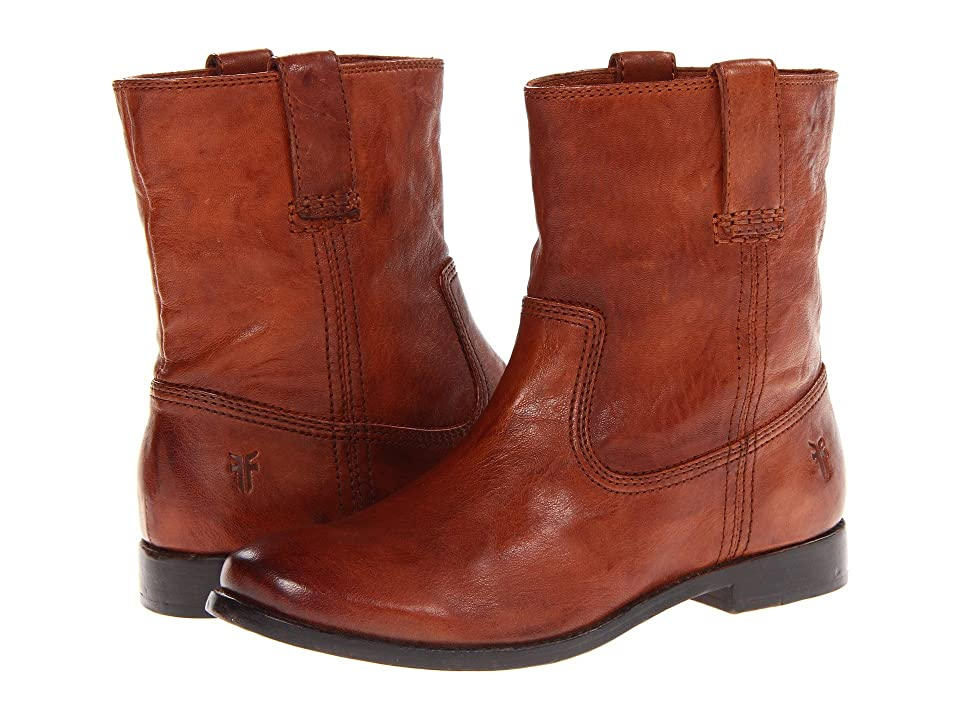 Frye Anna Shortie (Cognac Antique Soft Vintage) Women