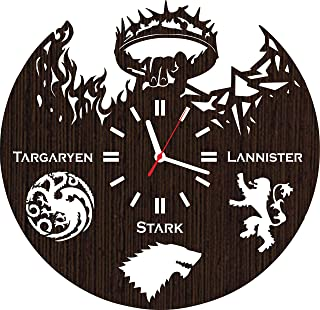 Absolutely Unique Gift Wooden Wall Clock for Men Women Kids Boys Girls Birthday Christmas Wedding Party Decorations Stark ...