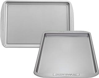 Farberware 47745 Nonstick Bakeware Set, Nonstick Cookie Sheets / Baking Sheets - 2 Piece, Gray
