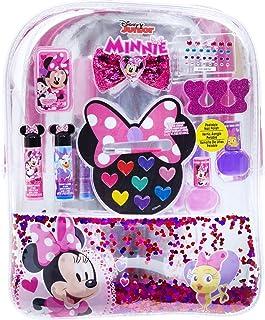 Townley Girl Disney Minnie Mouse backpack Cosmetic Set, Includes: Lip Gloss Compact, Hair Bows, Nail Polish, Nail File, Li...