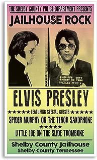 "Per Diem Printing - Elvis Presley Jailhouse Rock Mug Shot 13""x22"" Vintage Style Showprint Poster - Concert Bill - Home Nostalgia Decor Wall Art Print"
