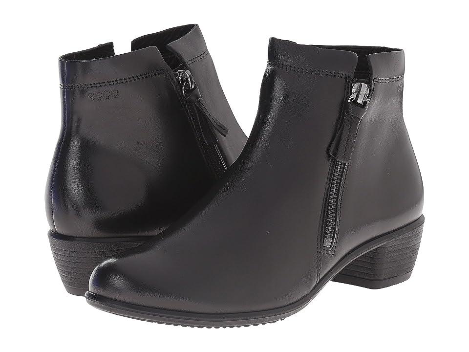 ECCO Touch 35 Zip Bootie (Black) Women
