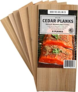 6 Pack Cedar Grilling Planks - Adds Smoky Cedar Flavor to Salmon, Chicken, Veggies and More.