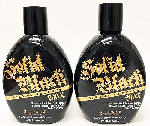 Millennium Tanning SOLID BLACK Special Reserve 200x Ultra Rich Black Bronzer 13.5 fl oz (2 BOTTLES)