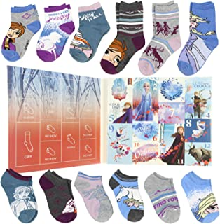 Frozen II Girls 12 Days of Socks Holiday Advent Calendar