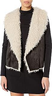 JACK Womens JJ401742 Faux Suede Vest Jacket