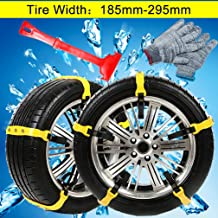 WELOVE Snow Chains Emergency Tire Chains Tire Chains Adjustable Snow Cable Chains Emergency Tractio Chains Fit for Most Car/SUV/Truck 185mm-295mm 10 PC