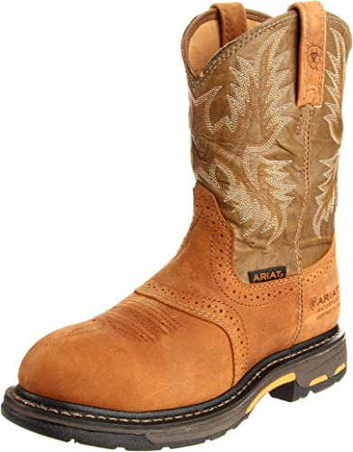 Ariat Men's Workhog Pull-on H2O Composite Toe Work Stiefel, Aged Bark Army Grün, 14 2E US