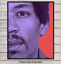 Jimi Hendrix Pop Art Wall Art Print, Modern Art Home Decor, Andy Warhol Style Poster - Contemporary Apartment or Room Decorations or Great Gift for Guitarists, Musicians, Woodstock and 60s Music Fans