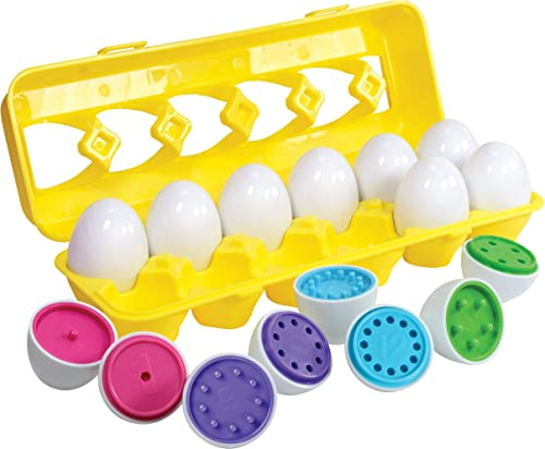Kidzlane Count & Match Educational Egg Toy – Teach Colors, Numbers & Fine Motor Skills - 12 Sturdy Eggs in Plastic Ca...