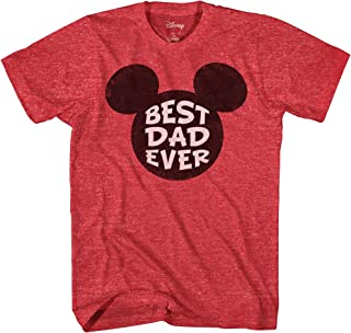 97a6fc46 Disney Mickey Mouse World's Best Dad Ever Disneyland Graphic Adult T-Shirt