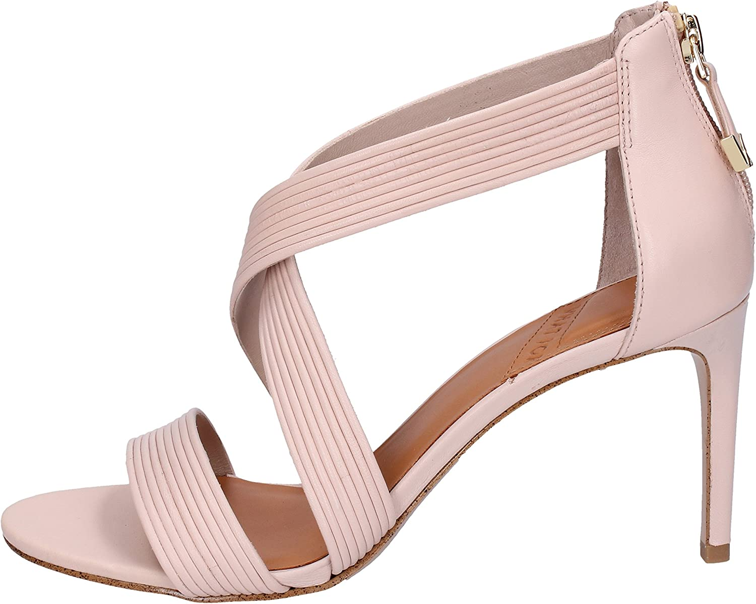 WHAT FOR Sandals Womens Leather Pink