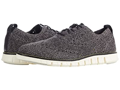 Cole Haan Zerogrand Stitchlite Oxford (Black Twisted Knit/Safety Yellow) Men