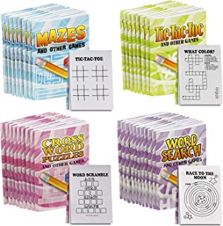 Kicko Mini Game Book Assortment - 36 Pack - 3 x 2 Inches - for Kids, Party Favors, Stocking Stuffers, Classroom Prizes, De...