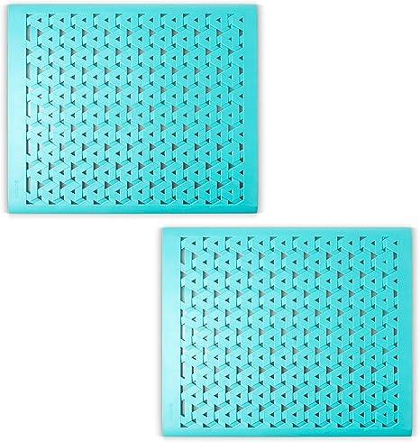 crippa kitchen sink protector mat set of 2 sink mats for porcelain sink kitchen sink mats for double sink turquoise