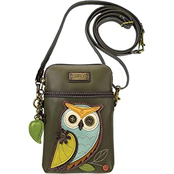Mustard Owl Purse Small bag with Mobile Phone Spectacles Holder Long,Short Strap