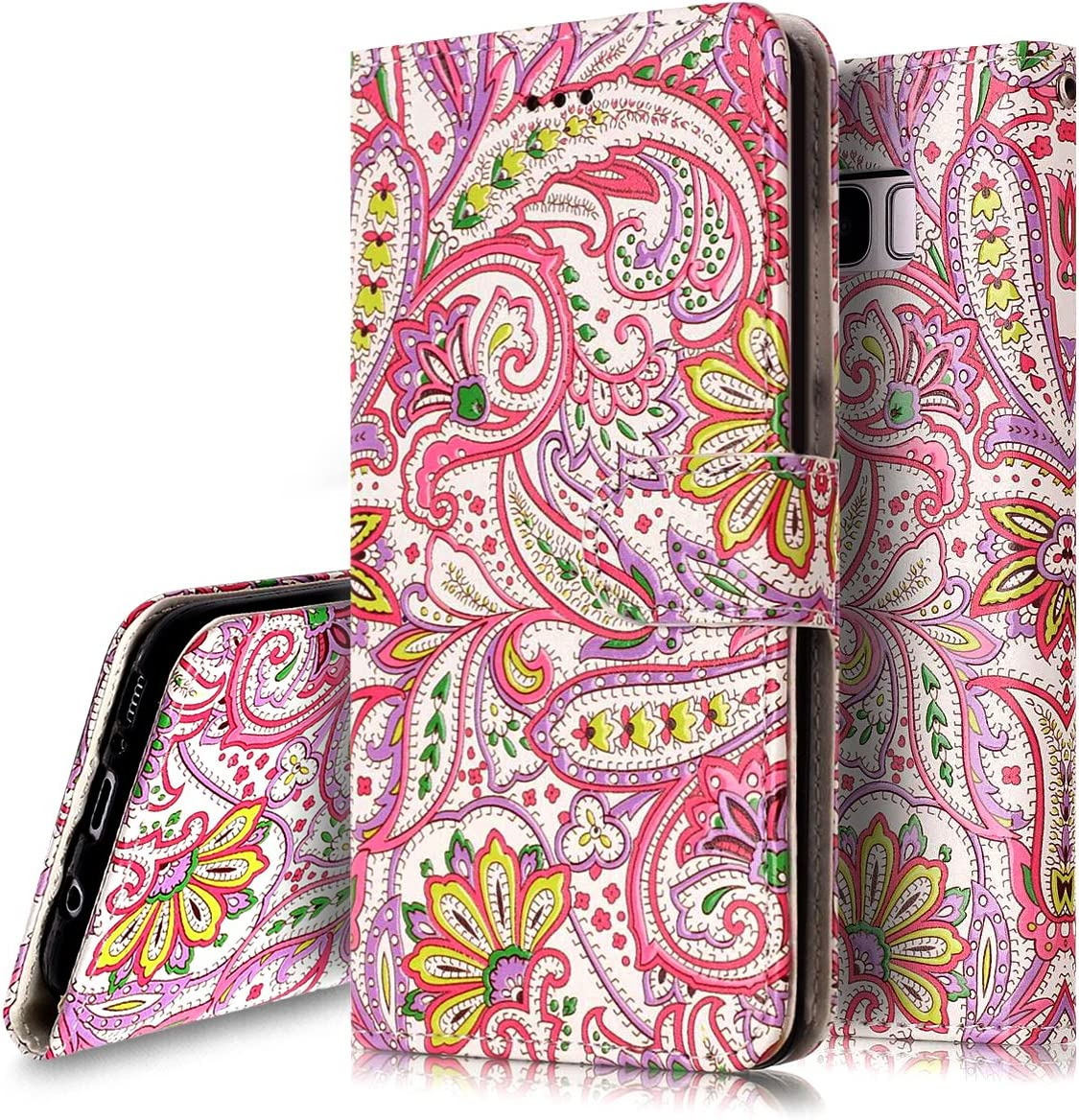 Galaxy Max 54% OFF S8 Case Wallet Lea PHEZEN Colorful Very popular! Floral