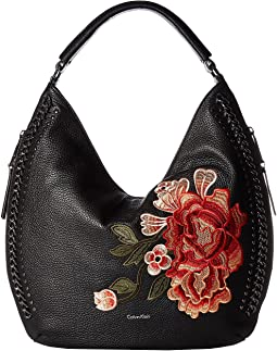 Flower Embroidery Hobo