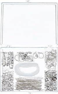 Darice 1972-08 Nickel Free Silver Finding Starter Kit in Clear Box