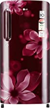 LG 190 L 4 Star Direct Cool Single Door Refrigerator(GL-B201ASOX.ASOZEBN, Scarlet orchid, Inverter Compressor)